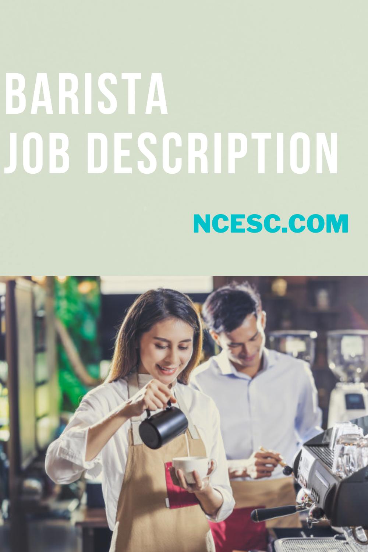 the barista job description
