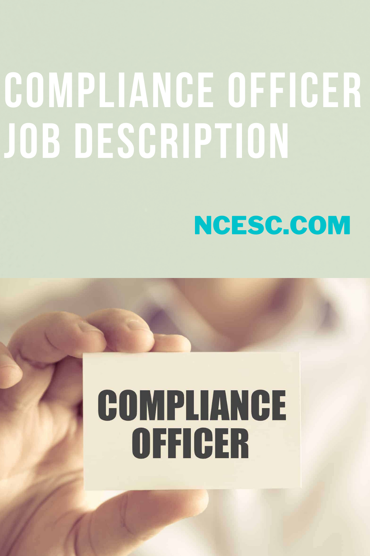 the compliance officer job description