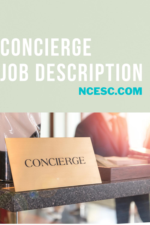 the concierge job description