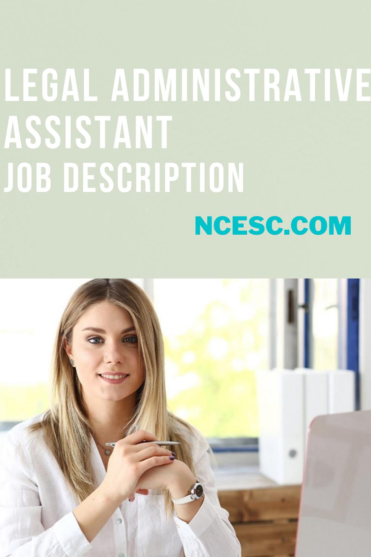 the legal administrative assistant job description