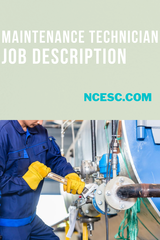 the maintenance technician job description