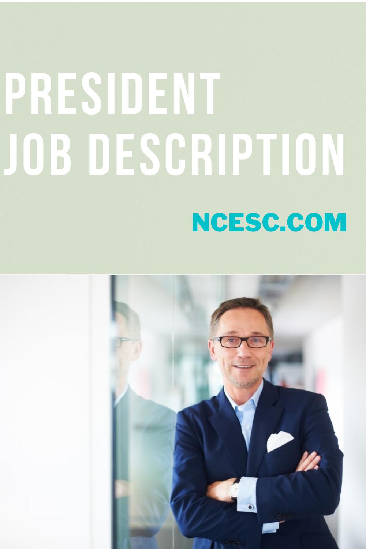 the president job description