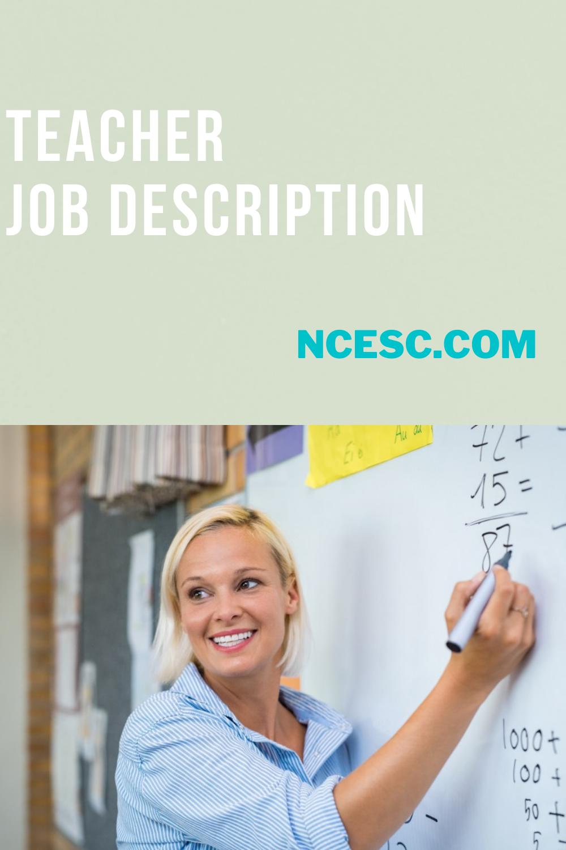 the teacher job description