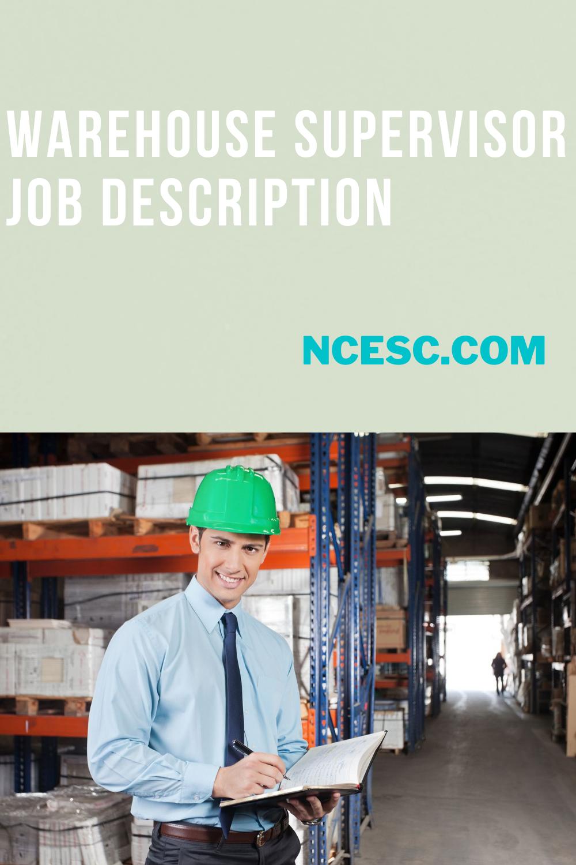 warehouse supervisor job description