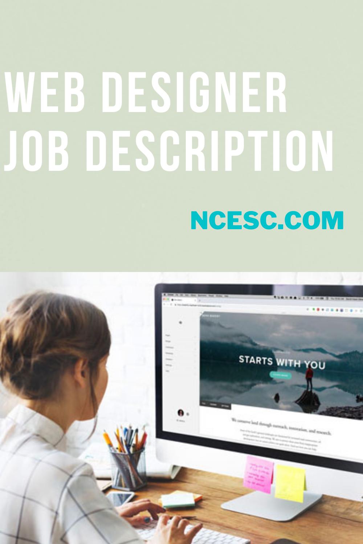 web designer job description