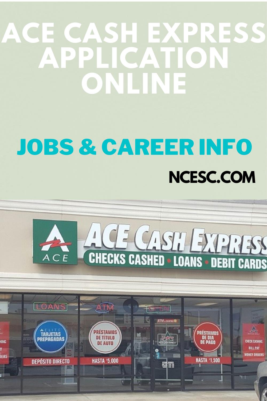 ace cash express application