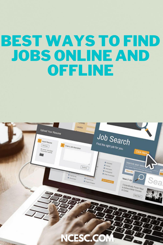 best ways to find jobs online and offline