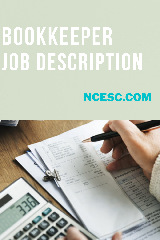 bookkeeper job description