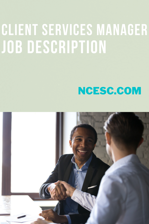 client services manager job description