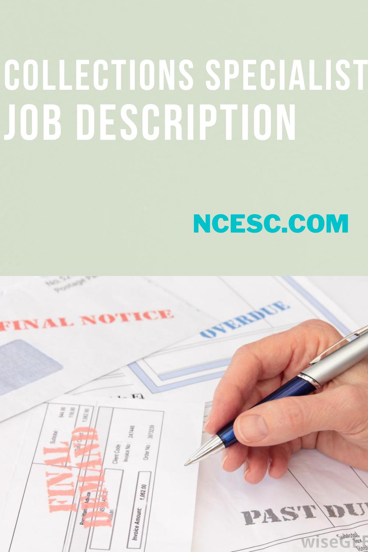 collections specialist job description