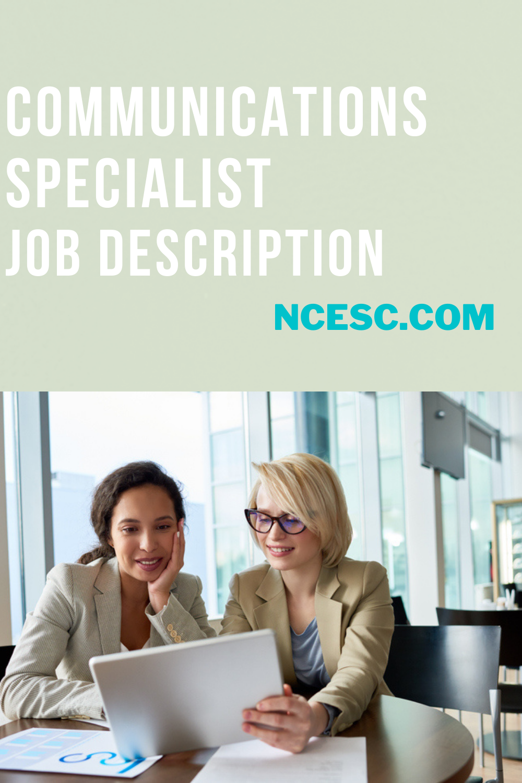 communications specialist job description