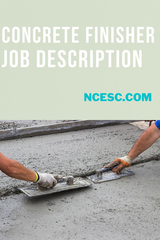 concrete finisher job description