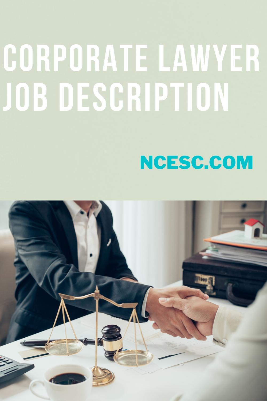 corporate lawyer job description