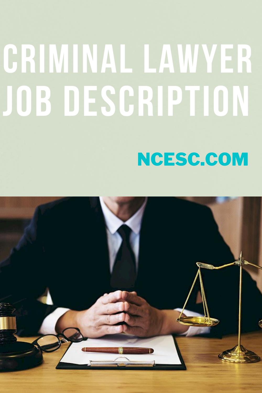 criminal lawyer job description