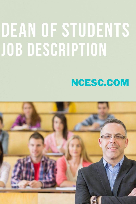 dean of students job description