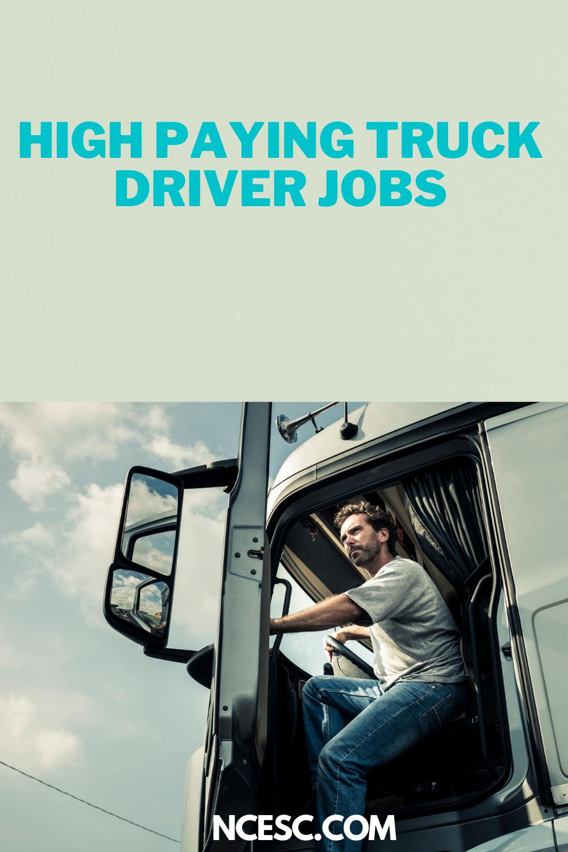 high paying truck driver job