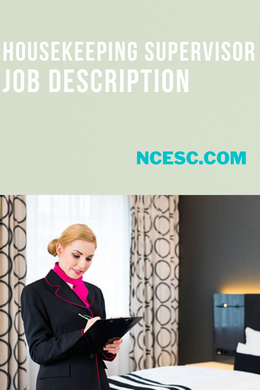housekeeping supervisors job description