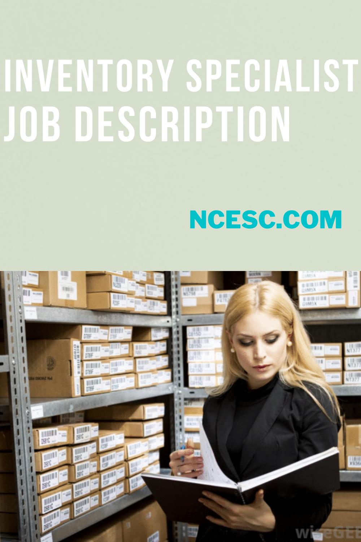 inventory specialist job description