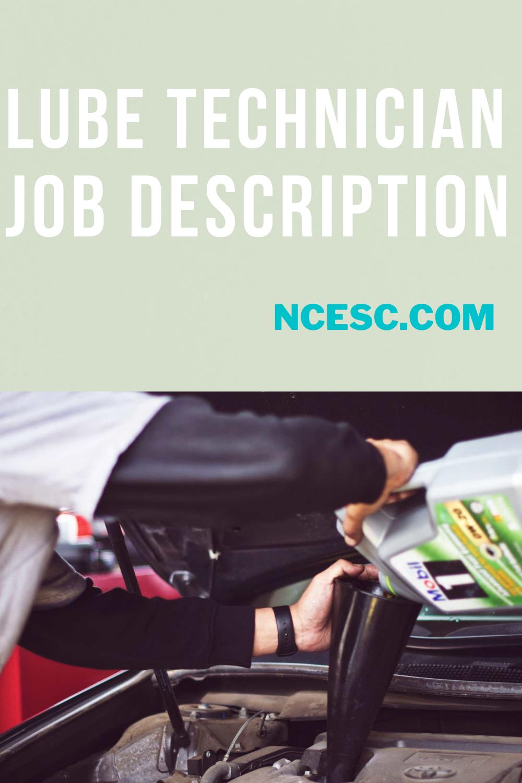 lube technician job description