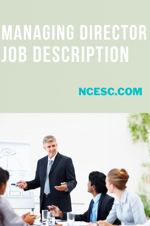 managing director job description