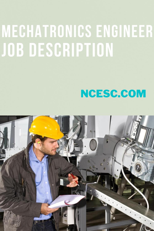 mechatronics engineer job description