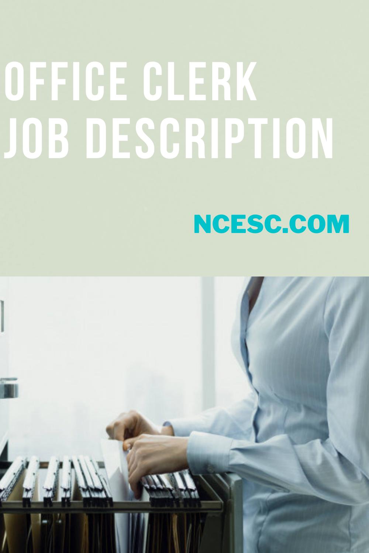 office clerk job description