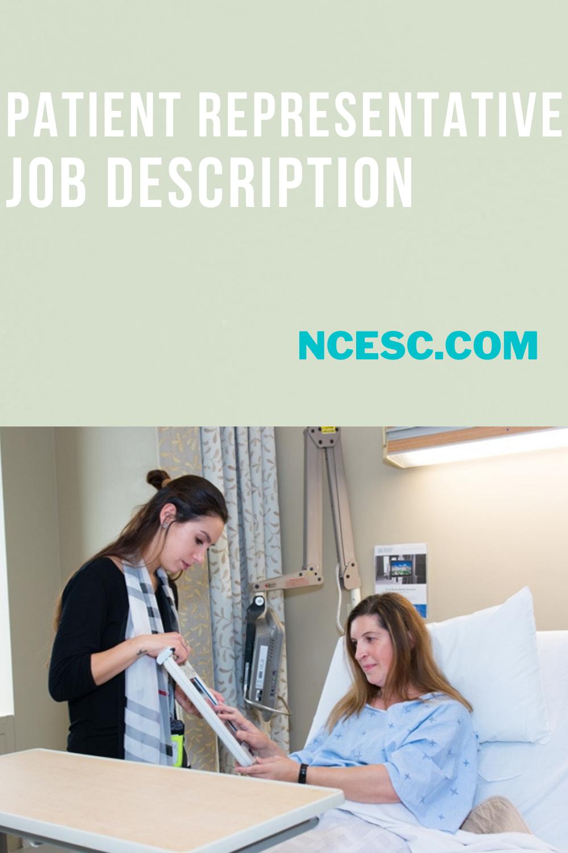 patient representative job description