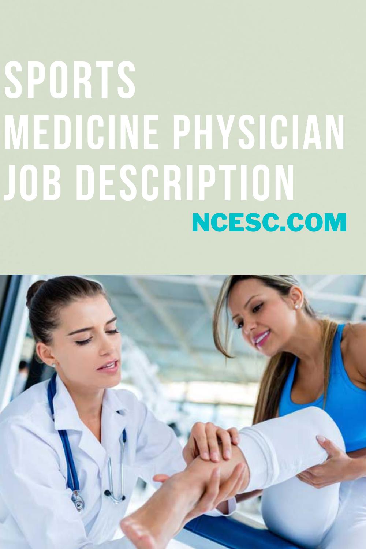 sports medicine physician job description