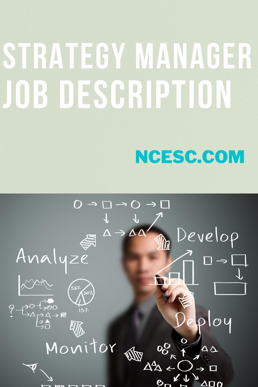 strategy manager job description