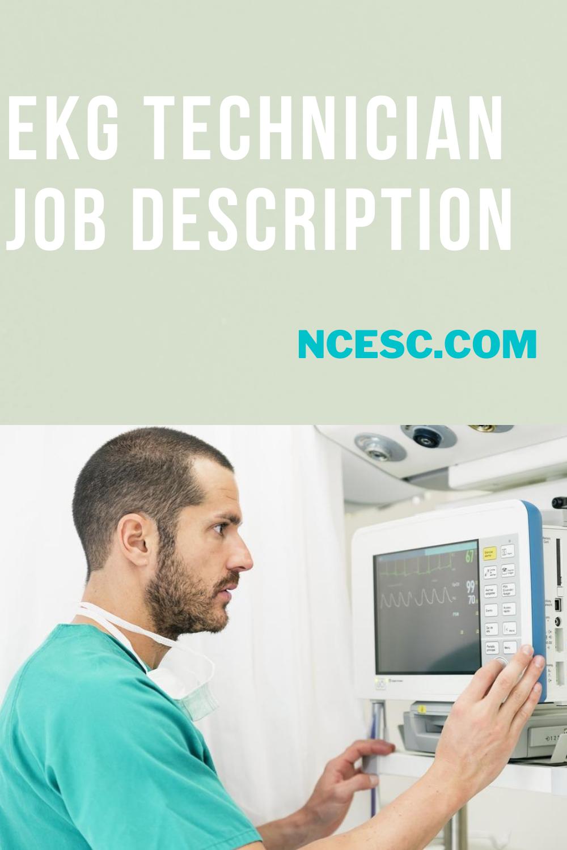 the ekg technician job description