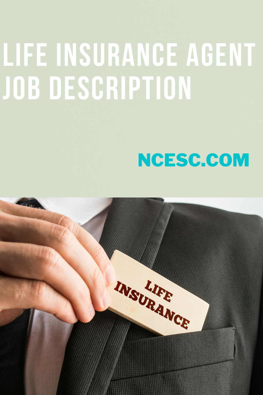 the life insurance agent job description