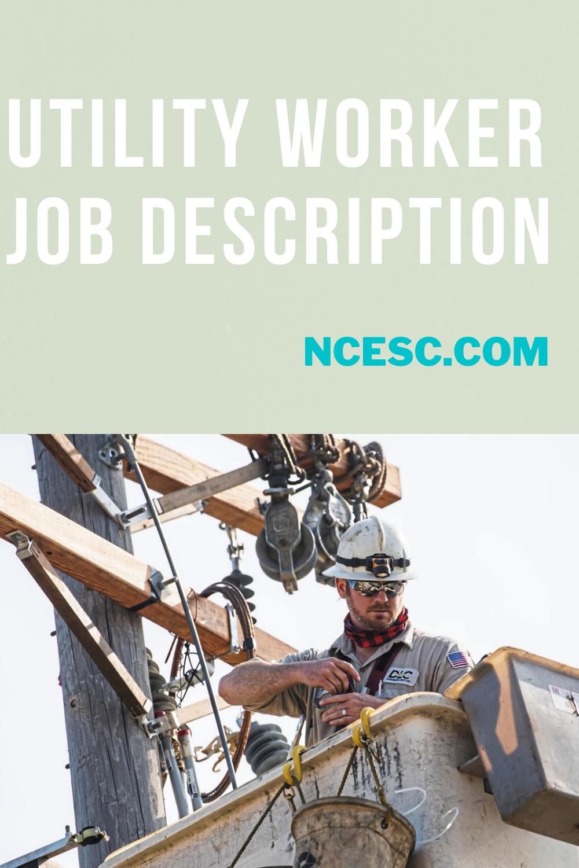 utility worker job description