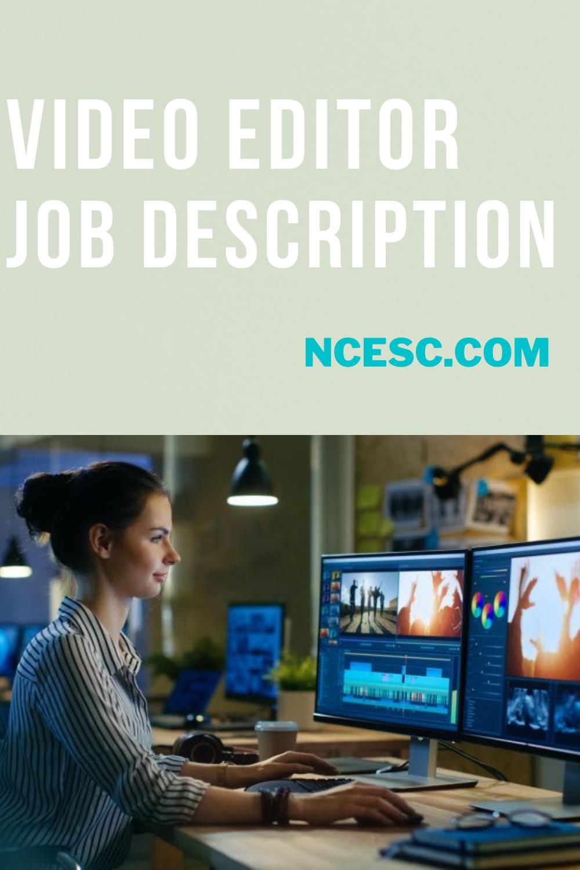 video editor job description