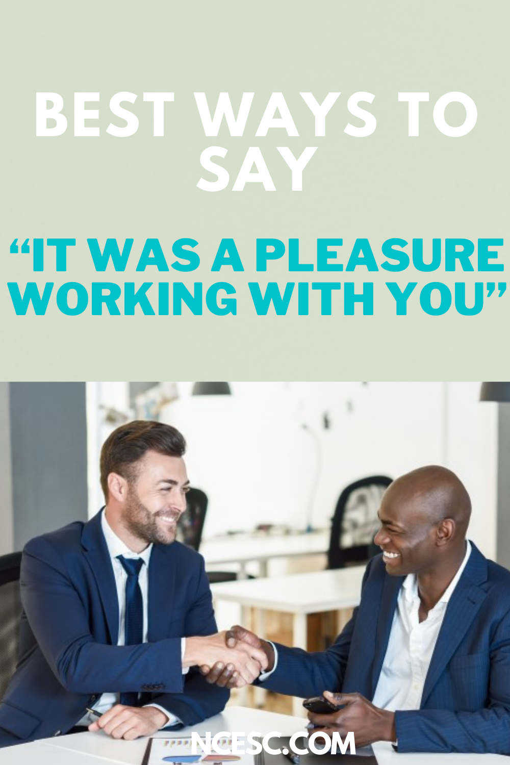best ways to say it was a pleasure working with you