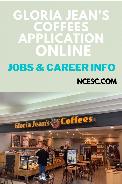 gloria jean's coffees application