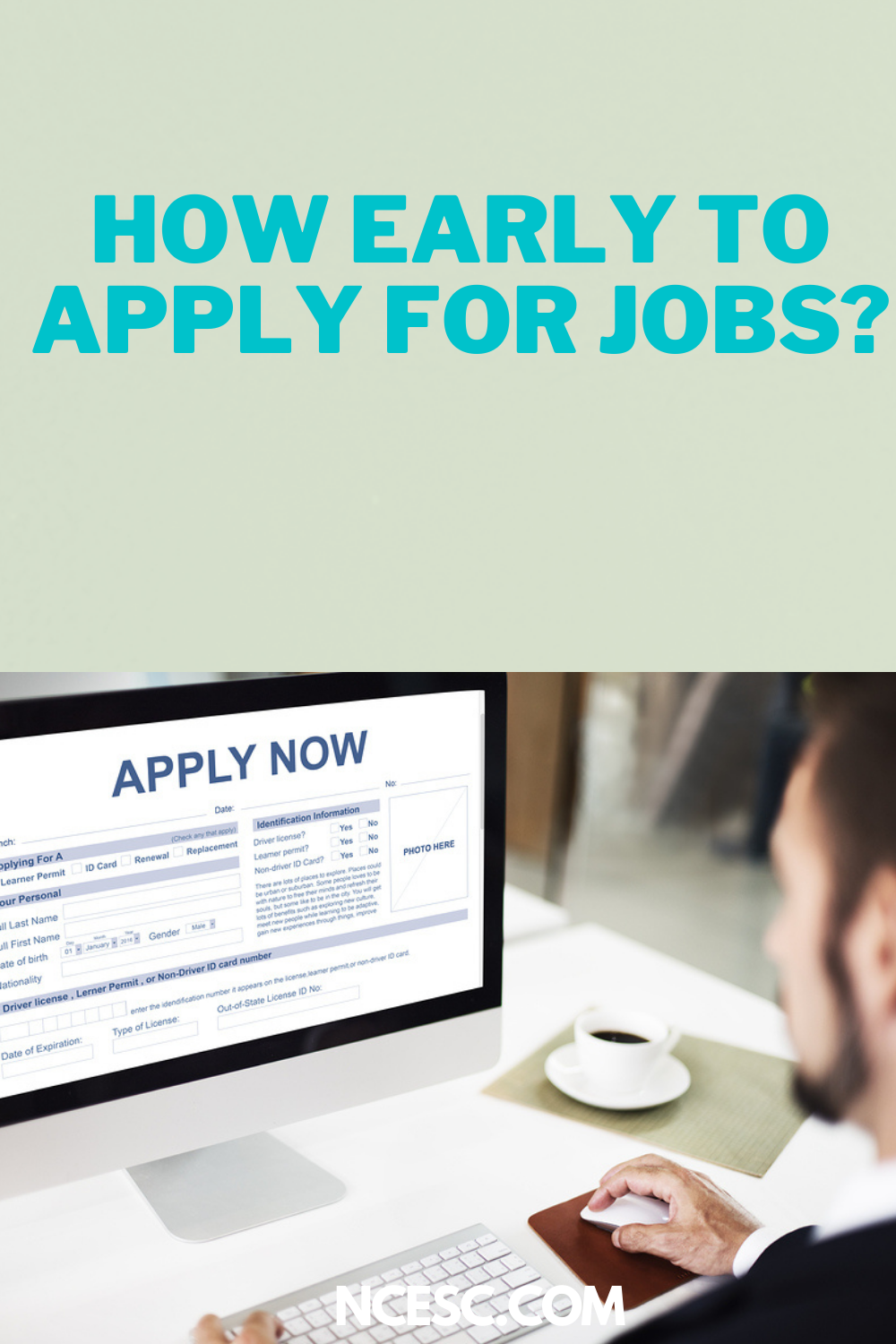 how early to apply for jobs
