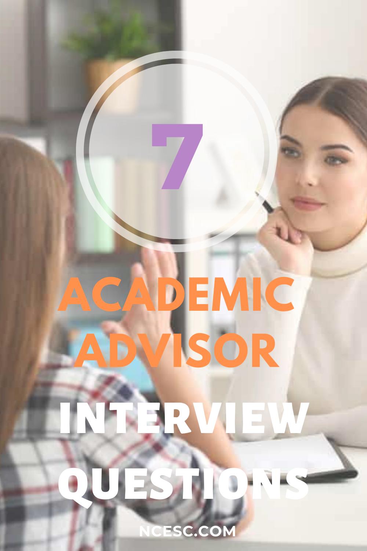 academic advisor interview questions