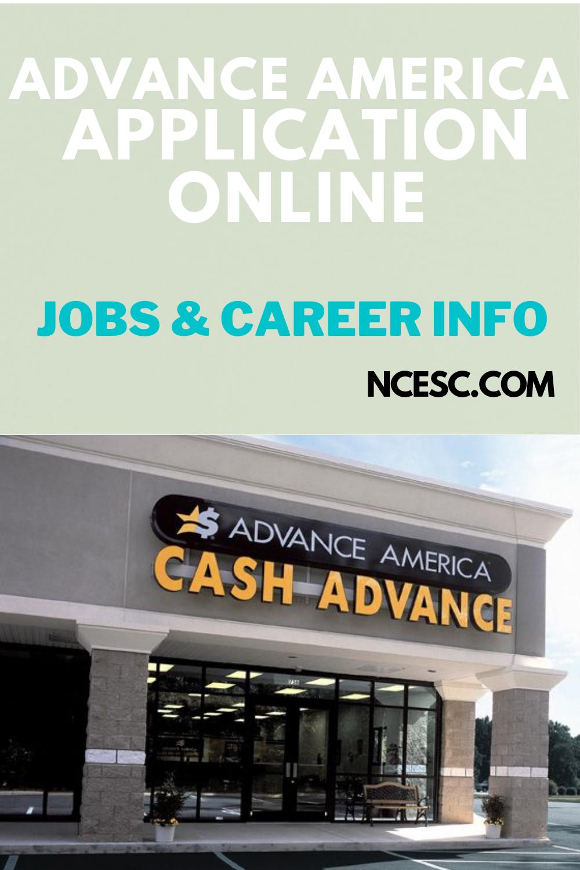 advance america application